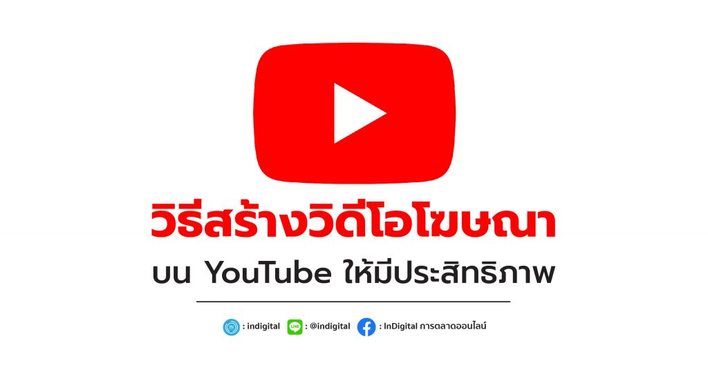 วิธีสร้างวิดีโอโฆษณา บน YouTube ให้มีประสิทธิภาพ